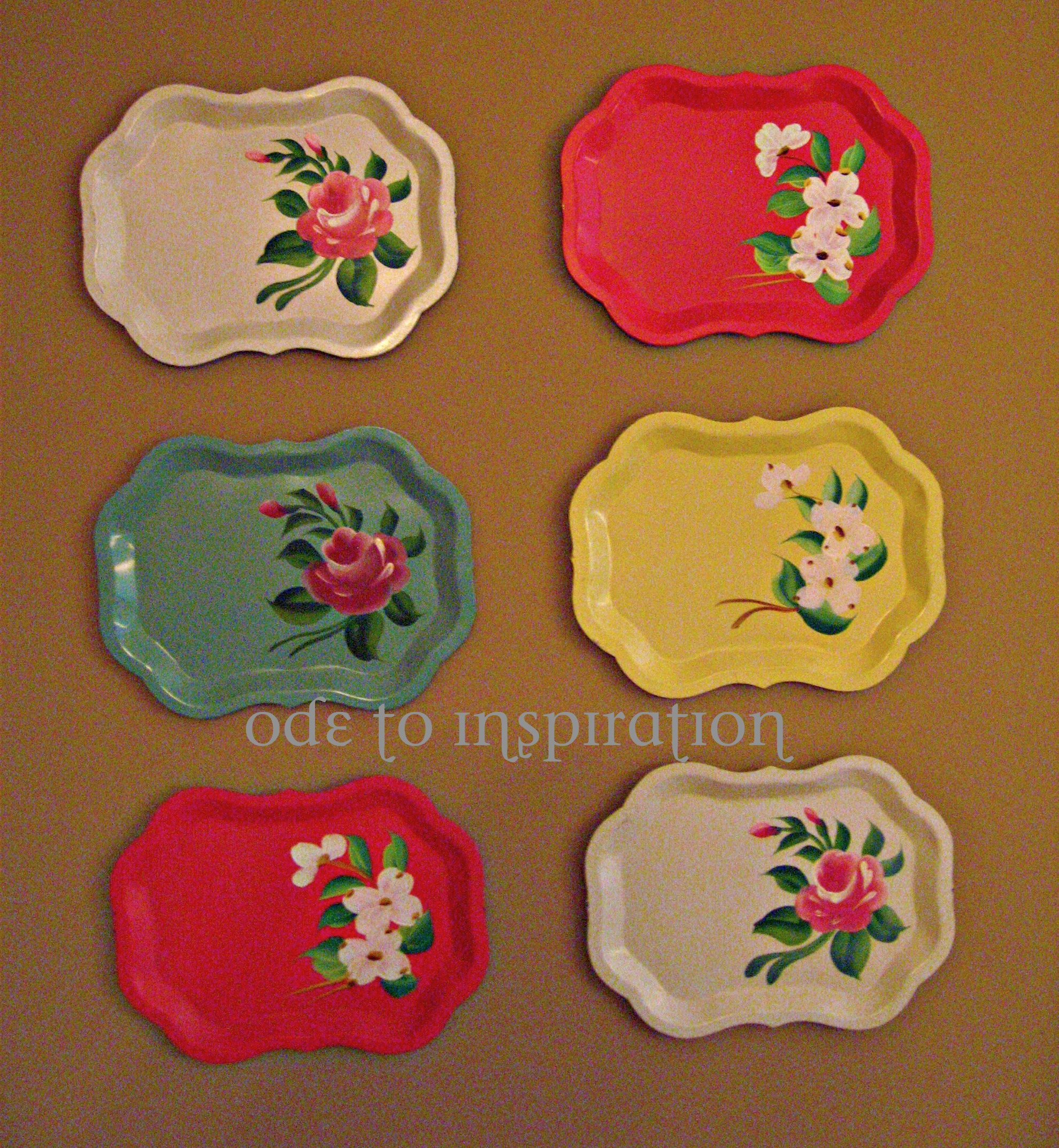 Antique Tin Trays Wall Decor | Ode to Inspiration