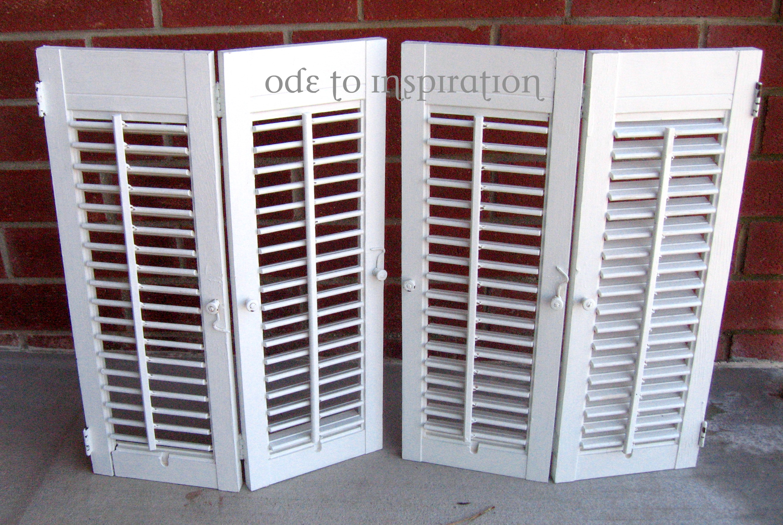 Vintage Shutters Makeover Ode To Inspiration