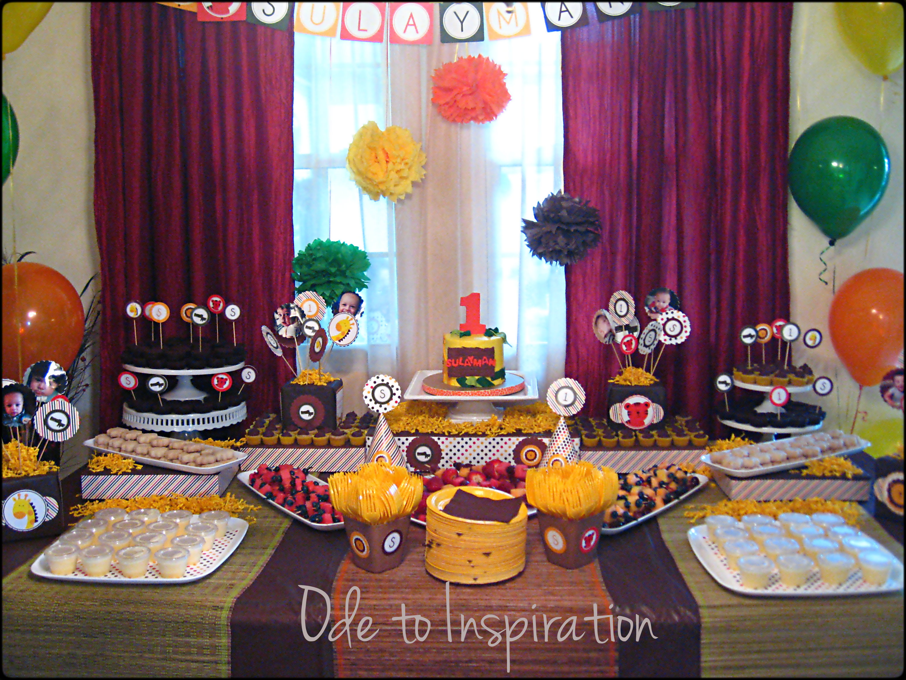 Jungle theme birthday cake ode to inspiration for B day party decoration ideas