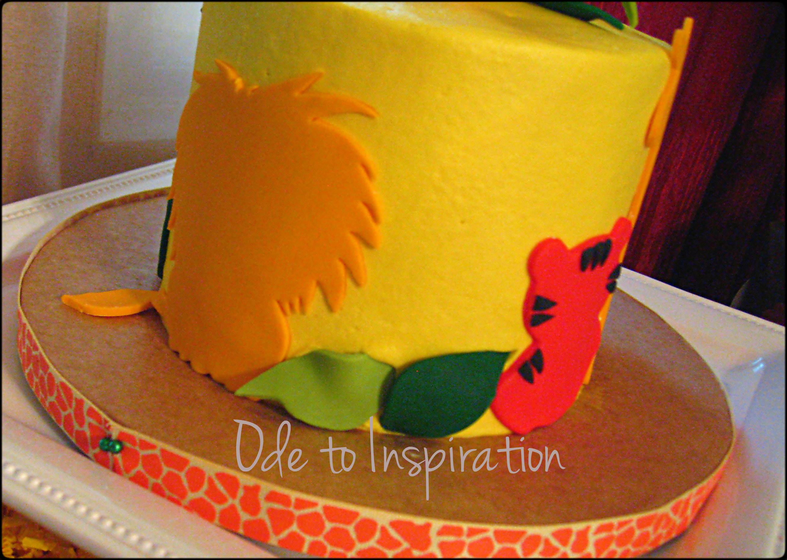 Jungle Theme Birthday Cake Ode to Inspiration